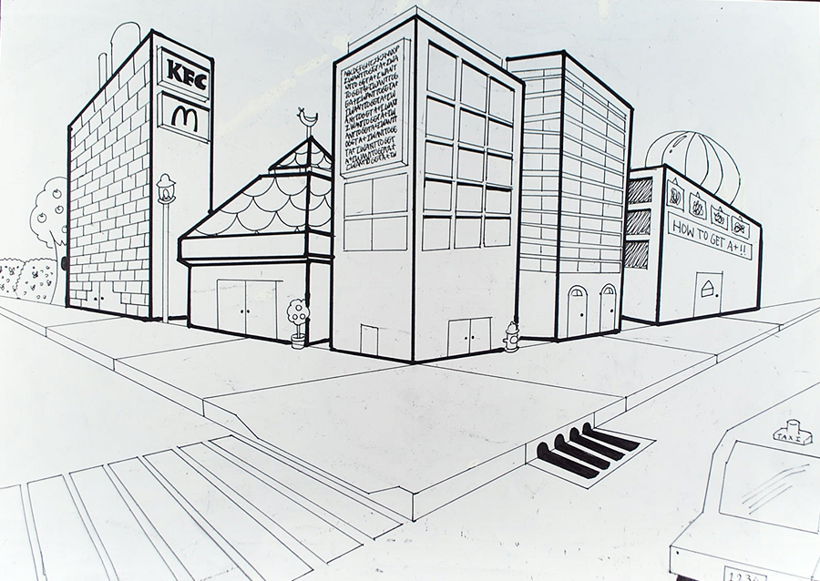 2 Point Perspective City Drawings Www Pixshark Com